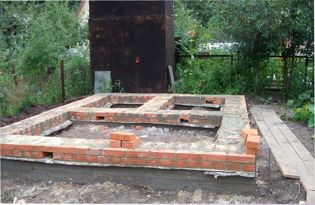 Фундамент под дом из кирпича своими руками