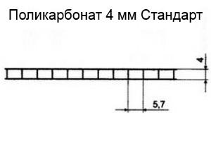 Поликарбонат толщиной 4 мм