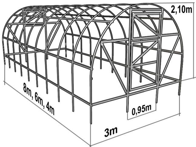 Схема теплицы из полимера