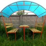Как построить крышу для беседки из поликарбоната