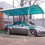 Качественный поликарбонатный навес для автомобиля
