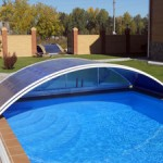 Строим поликарбонатный навес для бассейна