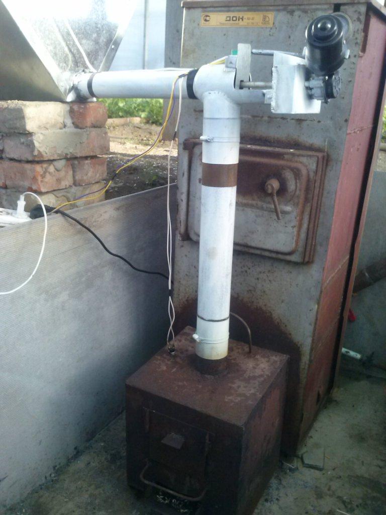 Печь для полимерной теплицы