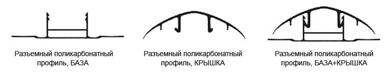 Профиль для поликарбоната разъемный фото