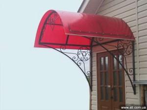 Поликарбонатное крыльцо в частном доме
