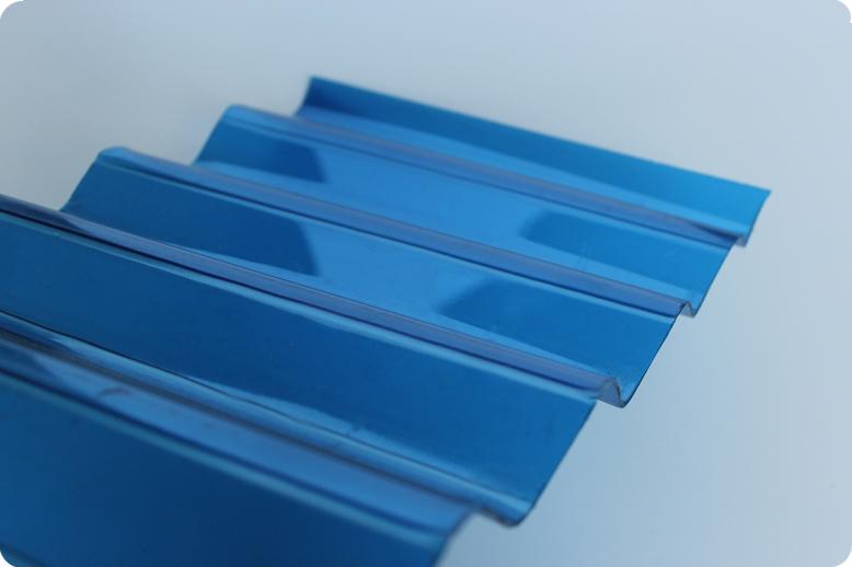 Синий волнистый поликарбонат