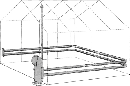 Печка для обогрева полимерной теплицы