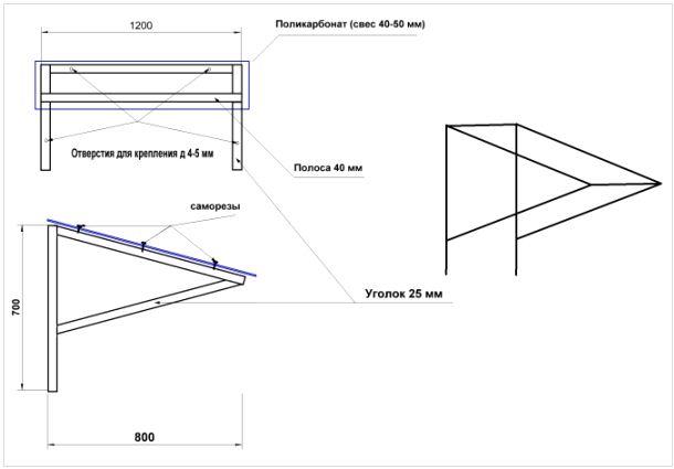 Схема полимерного крыльца