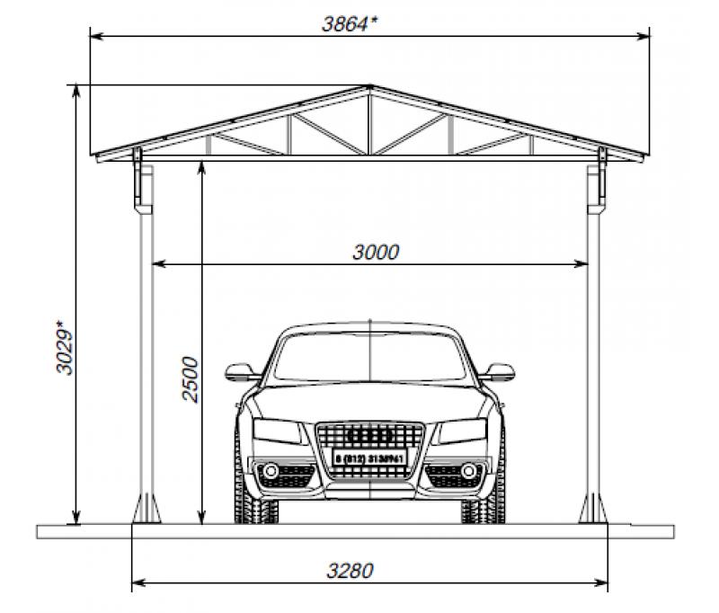 Схема полимерного гаража