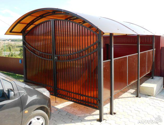 Создаем каркас для закрытого гаража