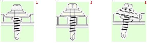 Правильное крепление термошайбы в поликарбонат