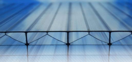 V-образные соты поликарбоната фото
