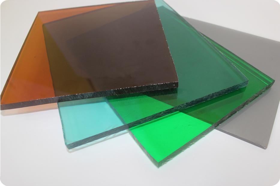 Листы разноцветного поликарбоната