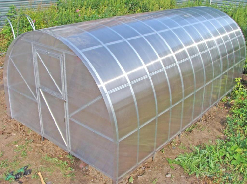 Поликарбонатная теплица из листа толщиной 4 мм