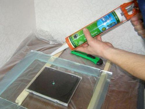 Склеивание аквариума из полимера