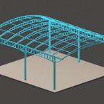 Каркас для поликарбонатного навеса
