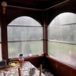 Полимерные окна на веранде