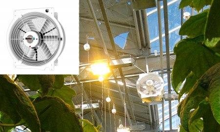 Вентилятор для проветривания теплицы из полимера