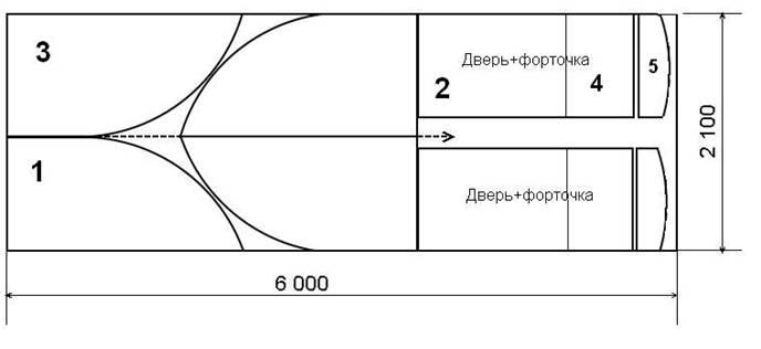 Схема раскроя поликарбоната на теплицу