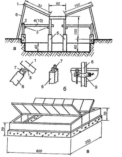 Схема несложного парника из поликарбоната