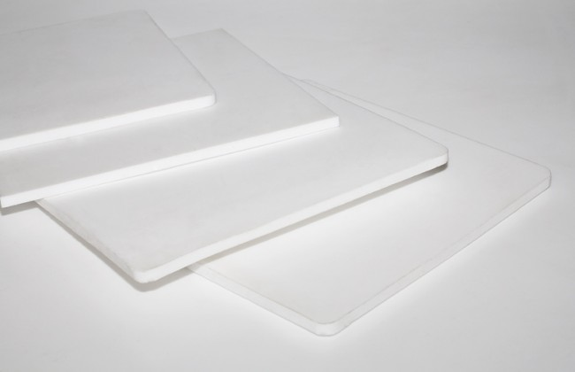 Пластины белого фторопласта
