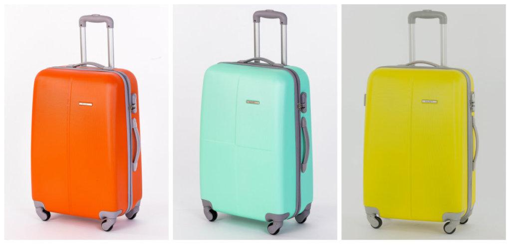 Поликарбонатные чемоданы с колесами