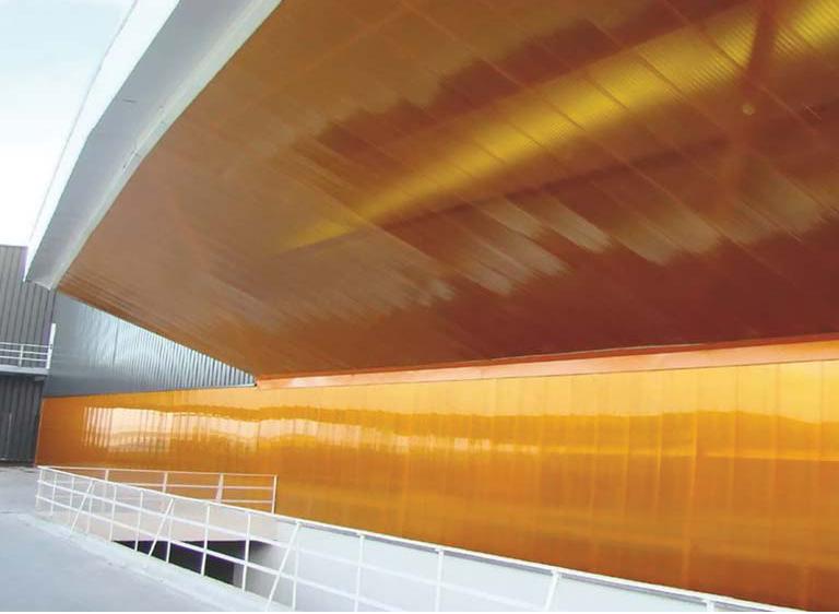 Полимерный фасад здания
