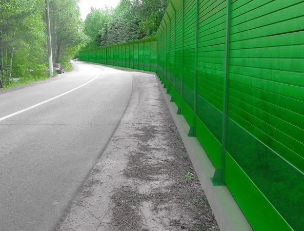 Защита от шума при помощи поликарбоната