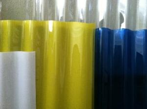 Пластины разноцветного полимера