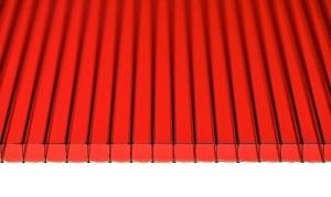 Лист красного поликарбоната