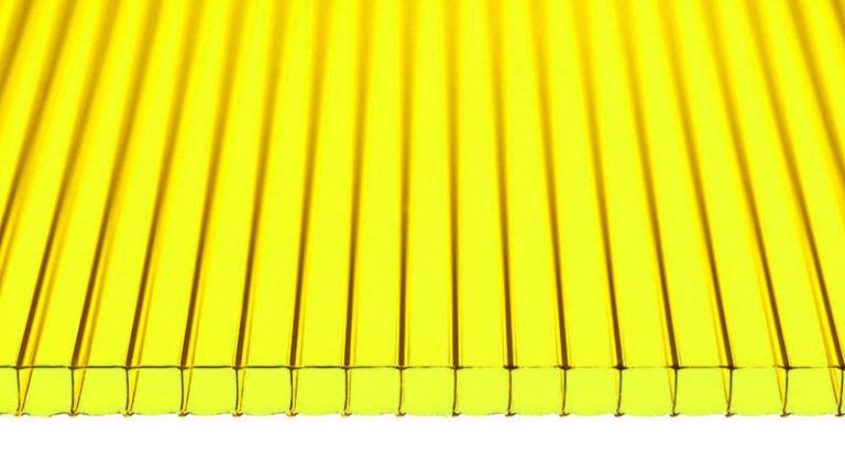 Лист желтого поликарбоната